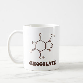 Molécula científica de la tebromina del elemento d taza de café