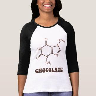 Molécula científica de la tebromina del elemento remera