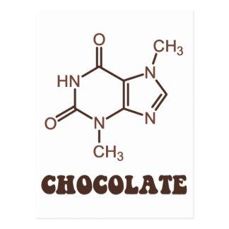Molécula científica de la tebromina del elemento tarjetas postales