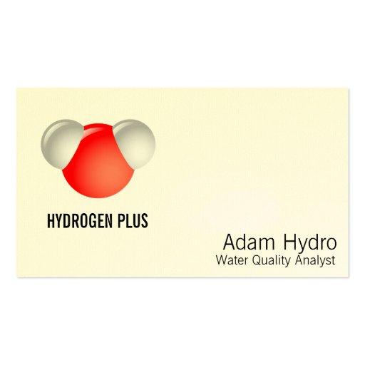 Molécula de agua H2O Plantillas De Tarjeta De Negocio