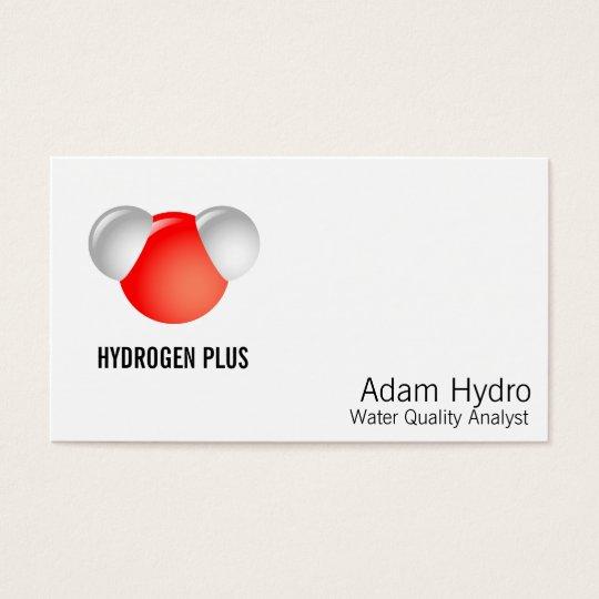 Molécula de agua H2O Tarjetas De Visita
