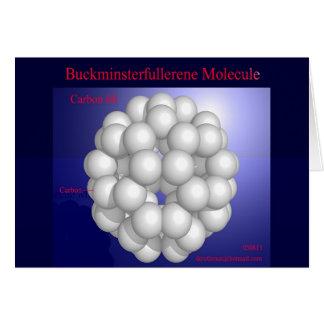 Molécula de Buckminsterfullerene (tarjeta)
