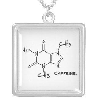 Molécula de Caffiene (estructura química) Colgante Cuadrado