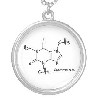 Molécula de Caffiene (estructura química) Colgante Redondo