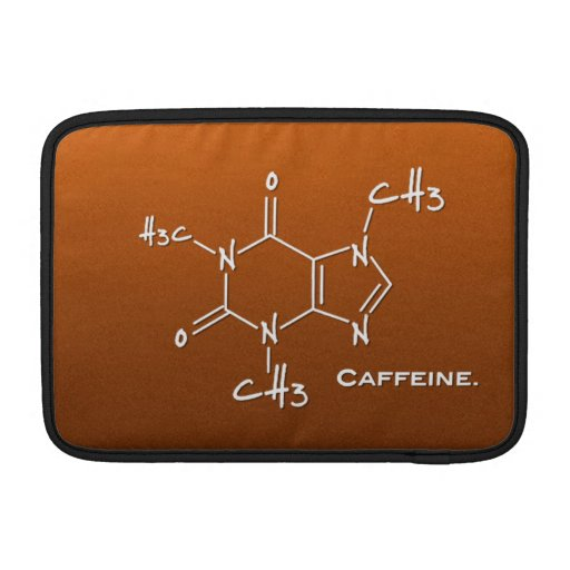 Molécula de Caffiene (estructura química) Funda Macbook Air