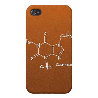 Molécula de Caffiene (estructura química) iPhone 4/4S Carcasas