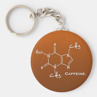 Molécula de Caffiene (estructura química) Llaveros