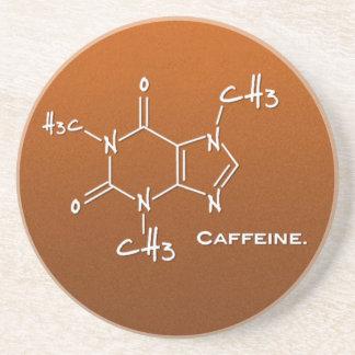 Molécula de Caffiene (estructura química) Posavasos De Arenisca