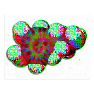 Molécula de la dopamina psicodélica tarjetas postales