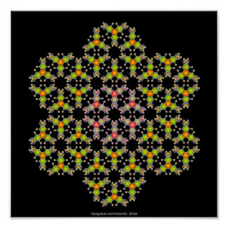 Molécula de la flor póster