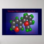 Molécula de la nicotina (impresión) impresiones