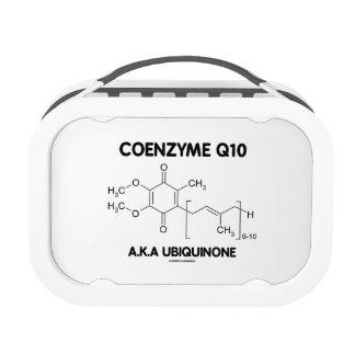 Molécula de la sustancia química de la ubiquinona