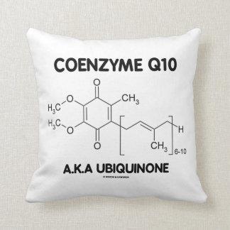 Molécula de la sustancia química de la ubiquinona almohadas
