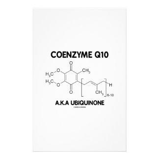 Molécula de la sustancia química de la ubiquinona papelería personalizada