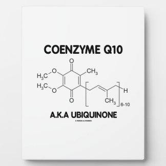 Molécula de la sustancia química de la ubiquinona placas de plastico