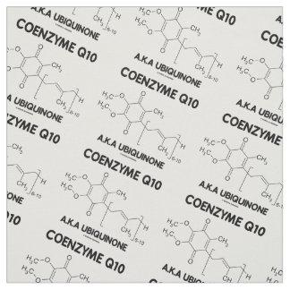 Molécula de la sustancia química de la ubiquinona telas