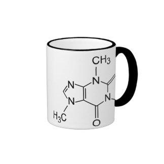 Molécula del café del cafeína taza