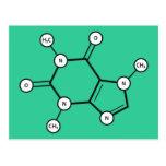 molécula del cafeína
