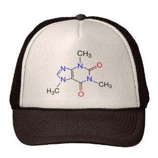 Molécula del cafeína gorras de camionero