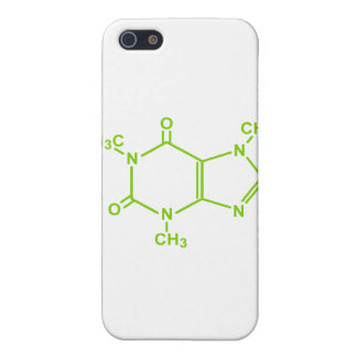 Molécula del cafeína iPhone 5 funda
