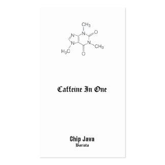 Molécula del cafeína para los amantes del café tarjetas de visita