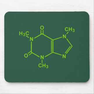 Molécula del cafeína tapetes de ratones