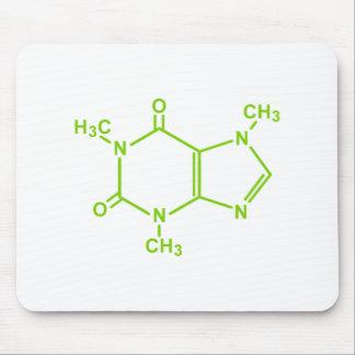 Molécula del cafeína tapete de ratón