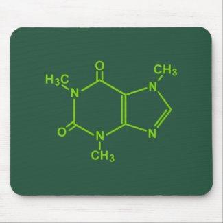 Alfombrilla de ratón con la molécula de cafeína