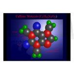 Molécula del cafeína (tarjeta)
