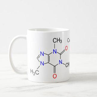 Molécula del cafeína taza de café