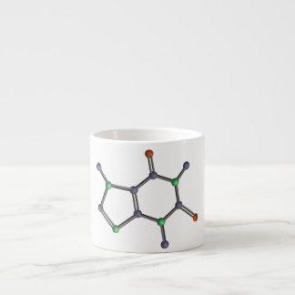 Molécula del cafeína taza espresso