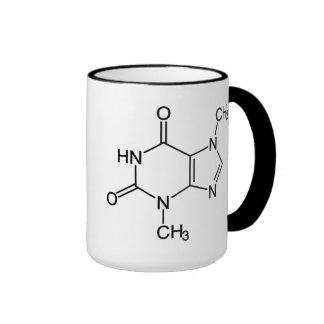Molécula del chocolate de la tebromina taza de café
