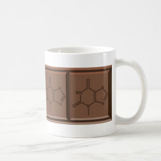 Molécula del chocolate taza