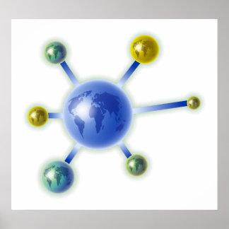 Molécula global impresiones