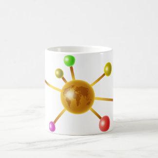 Molécula global taza de café