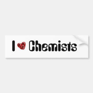 Molécula H2O del amor del empollón del químico Pegatina Para Auto