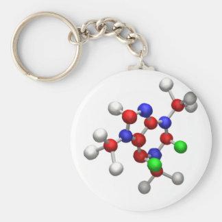 Molécula Llavero Redondo Tipo Pin