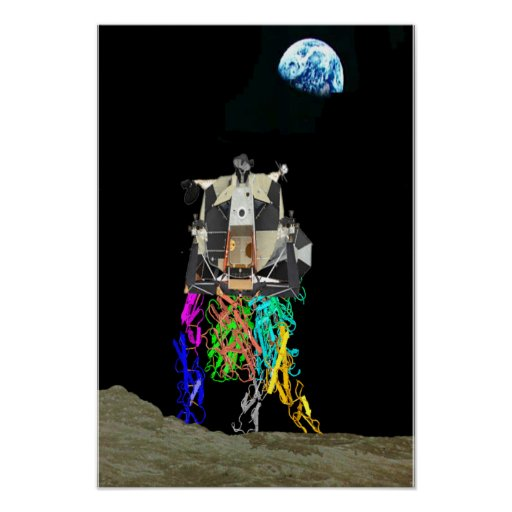 Molécula lunar de la excursión póster