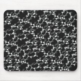 Molécula negra Mousepad Tapete De Ratón