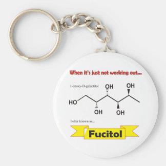 Molécula orgánica de Fucitol Llavero Redondo Tipo Pin