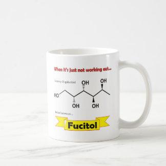 Molécula orgánica de Fucitol Taza Básica Blanca