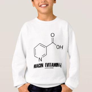 Molécula química de la niacina (vitamina B3) Sudadera