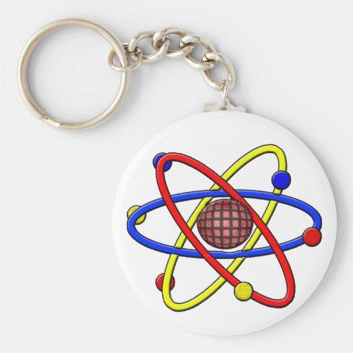 Molecular Basic Round Button Keychain