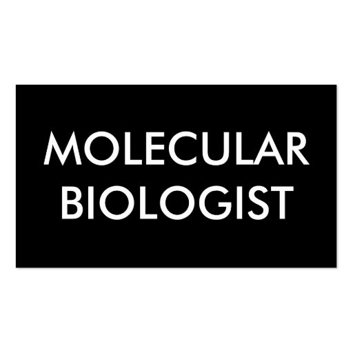 molecular biologist Double-Sided standard business cards (Pack of 100)