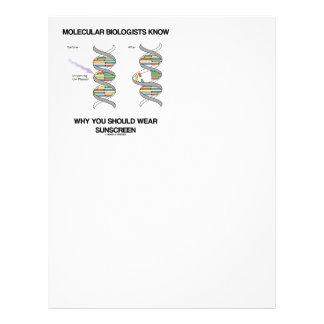 Molecular Biologists Know Why You Wear Sunscreen Letterhead