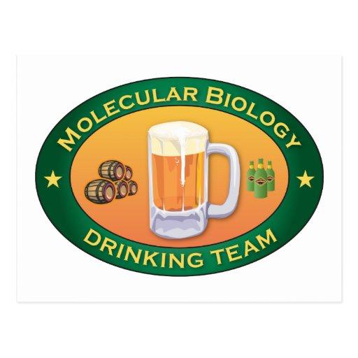 Molecular Biology Drinking Team Postcards