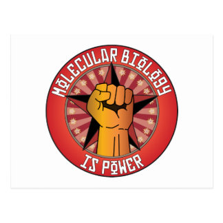 Molecular Biology Is Power Postcard