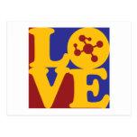 Molecular Biology Love Post Card