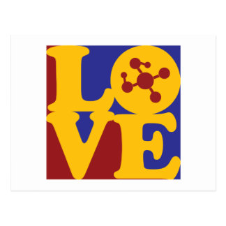 Molecular Biology Love Postcard