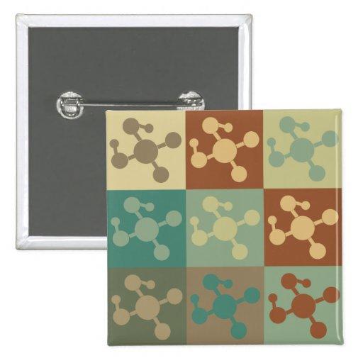 Molecular Biology Pop Art Pinback Button
